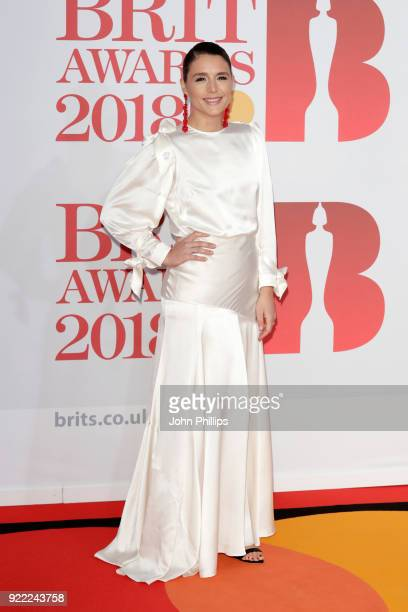 AWARDS 2018*** Jessie Ware attends The BRIT Awards 2018 held at The O2 Arena on February 21 2018 in London England