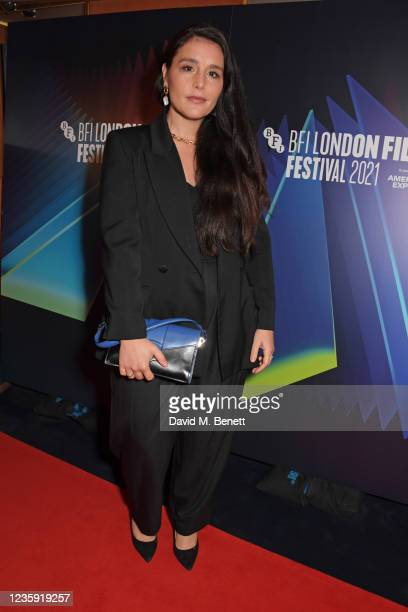 """Jessie Ware attends the UK Premiere of """"She Will"""" during the 65th BFI London Film Festival at the The Curzon Mayfair on October 16, 2021 in London,..."""