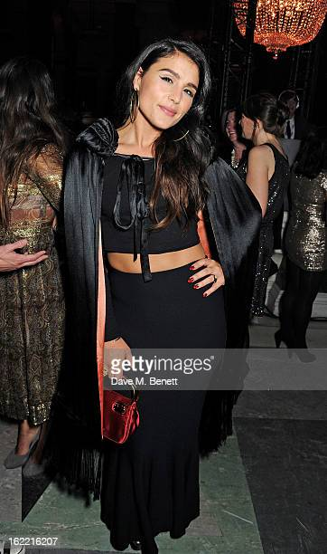 Jessie Ware attends the Universal Music Brits Party hosted by Bacardi at the Soho House popup on February 20 2013 in London England