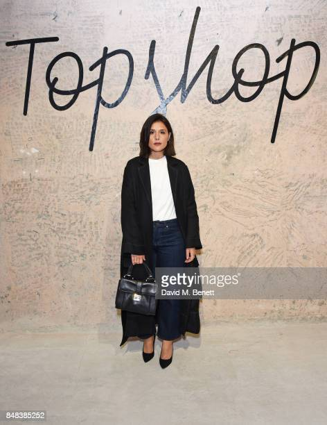 Jessie Ware attends Topshop's London Fashion Week show on September 17 2017 in London England