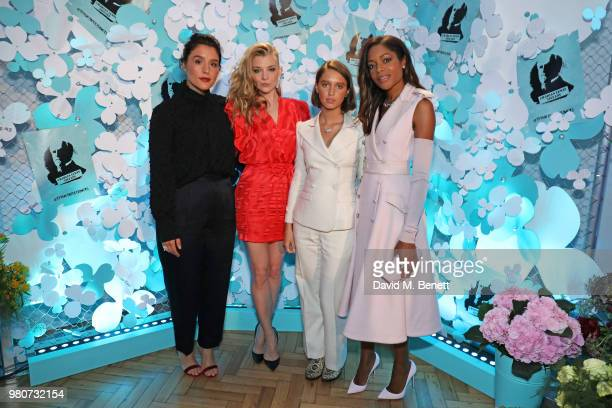 Jessie Ware Natalie Dormer Iris Law and Naomie Harris attend as Tiffany Co celebrates the launch of the Tiffany Paper Flower collection at The...