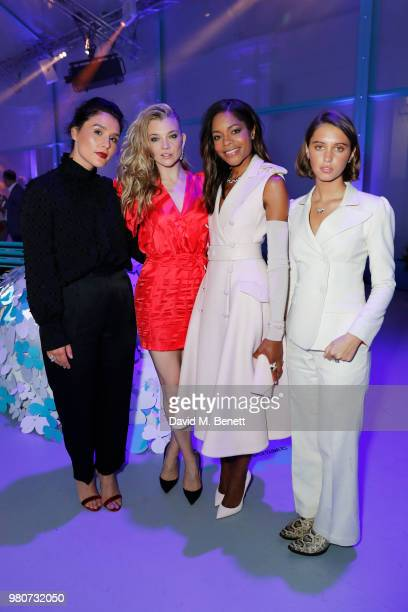 Jessie Ware, Natalie Dormer, Naomie Harris and Iris Law attend as Tiffany & Co. Celebrates the launch of the Tiffany Paper Flower collection at The...