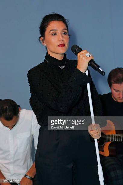 Jessie Ware performs as Tiffany Co celebrates the launch of the Tiffany Paper Flower collection at The Lindley Hall on June 21 2018 in London England