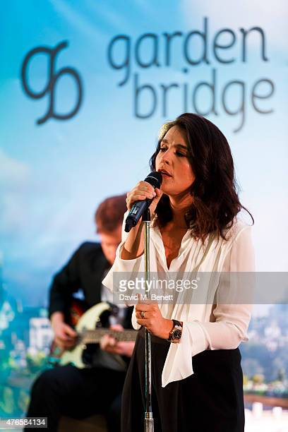 Jessie Ware performs at a fundraising gala auction and dinner hosted by Harrods in aid of the Garden Bridge Trust in its flagship restauraunt The...