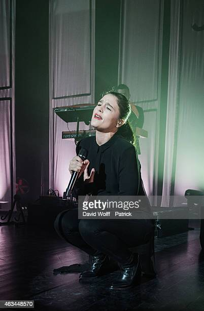 Jessie Ware performs at Le Trianon on February 14 2015 in Paris France