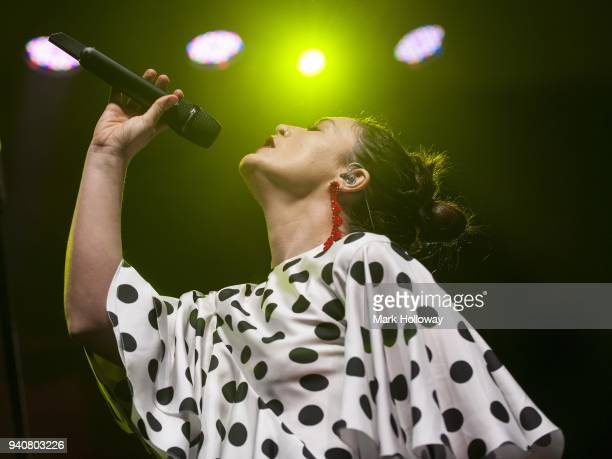 Jessie Ware performs at O2 Academy Bournemouth on April 1 2018 in Bournemouth England