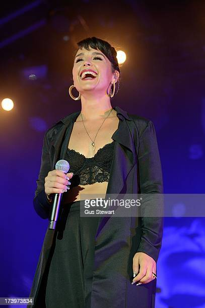 Jessie Ware performs on stage as part of the annual Summer Series of openair concerts at Somerset House on July 18 2013 in London England