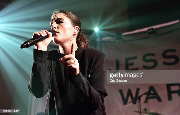 Jessie Ware performs on stage at St JohnatHackney Church on October 2 2014 in London United Kingdom
