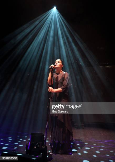 Jessie Ware performs on stage at the Eventim Apollo on March 29 2018 in London England