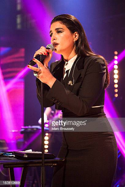 Jessie Ware performs on stage for Barclaycard Mercury Music Prize gig at LSO St Lukes on September 26 2012 in London United Kingdom