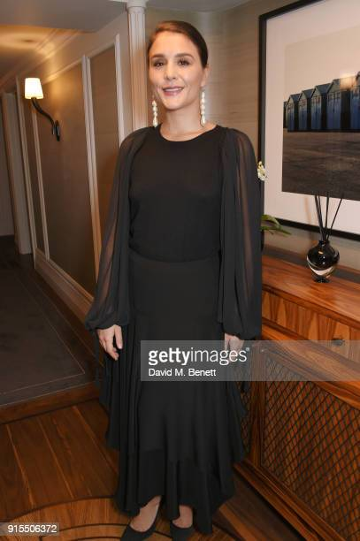 Jessie Ware poses backstage before performing at The Arts Club on February 7 2018 in London England