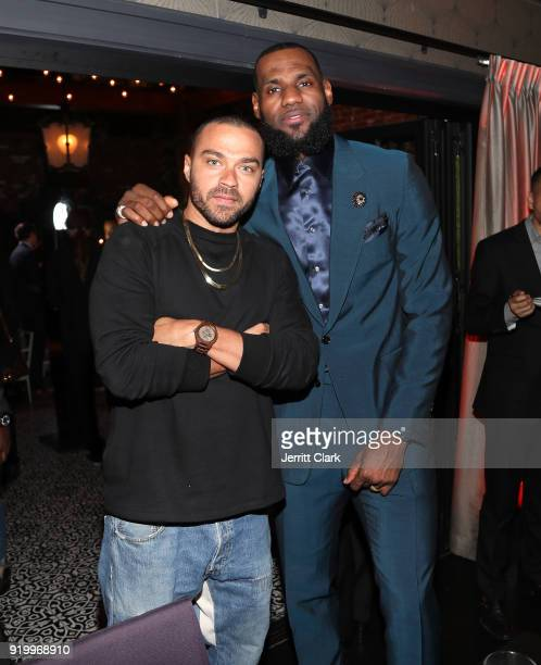 Jessie Williams and Lebron James attend the Klutch Sports Group More Than A Game Dinner Presented by Remy Martin at Beauty Essex on February 17 2018...