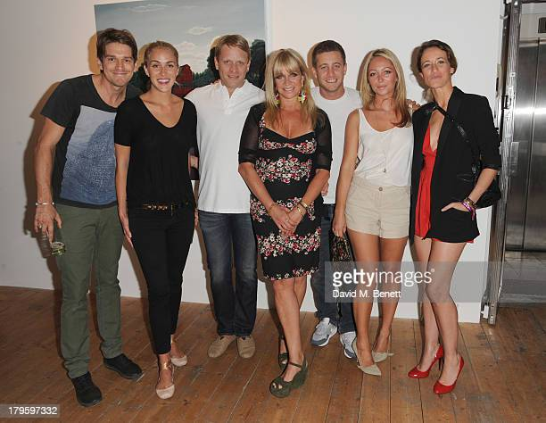 Jessie Wood Beth Witson Jamie Wood Jo Wood Tyrone Wood Jodie Wood and Leah Wood attend the VIP launch of the 'Hand To Earth' exhibition hosted by...