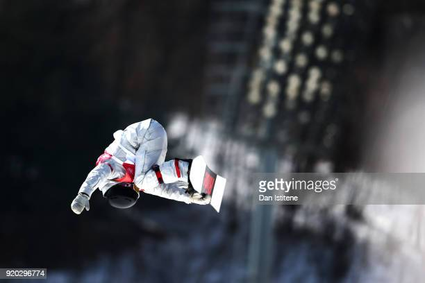 Jessika Jenson of the United States competes during the Snowboard Ladies' Big Air Qualification on day 10 of the PyeongChang 2018 Winter Olympic...