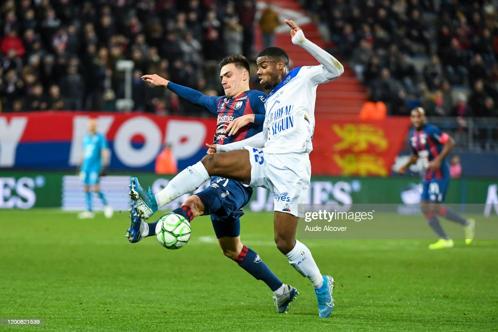 Jessy Deminguet Of Caen And Warren Tchimbembe Of Troyes During The News Photo Getty Images