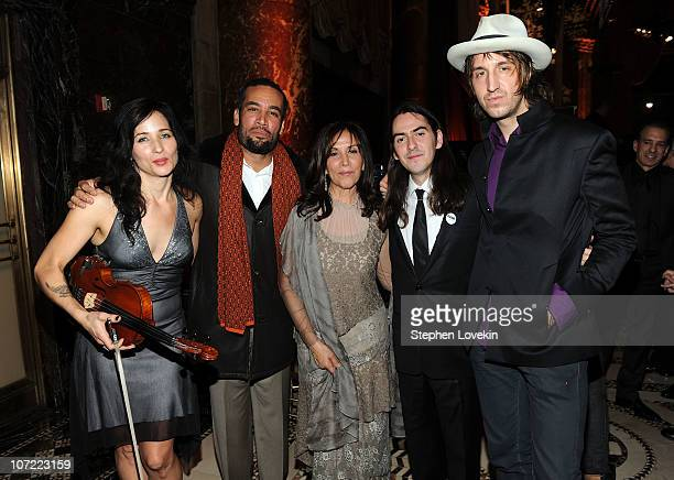 Jessy Greene Ben HarperOlivia Harrison Dhani Harrison and Joseph Arthur attend the 2010 UNICEF Snowflake Ball at Cipriani 42nd Street on November 30...