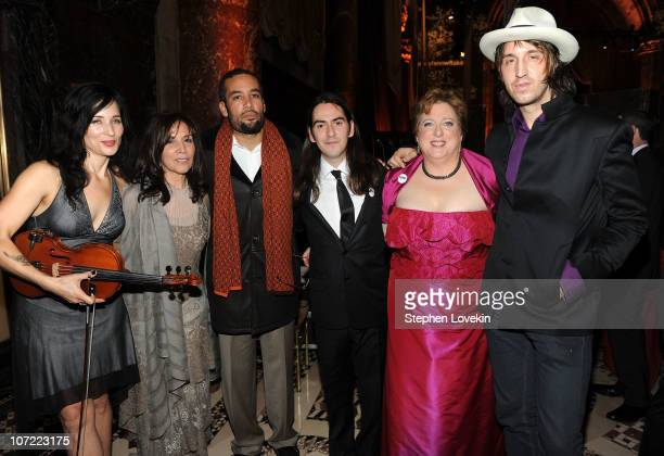 Jessy Greene Olivia Harrison Ben Harper Dhani Harrison President and CEO of the US Fund for UNICEF Caryl Stern and Joseph Arthur attend the 2010...