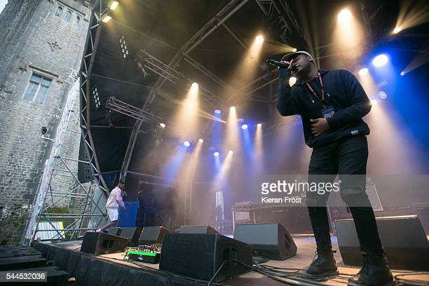 Jessy Rose and E-Knock of Hare Squead performs at CastlePalooza at Charville Castle on July 2, 2016 in Tullamore, Ireland.