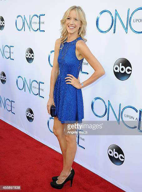 """Jessy Schram attends ABC's """"Once Upon A Time"""" Season 4 red carpet premiere at the El Capitan Theatre on September 21, 2014 in Hollywood, California."""