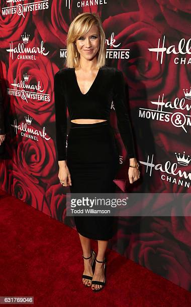 Jessy Schram attends the Hallmark Channel And Hallmark Movies And Mysteries Winter 2017 TCA Press Tour at The Tournament House on January 14 2017 in...