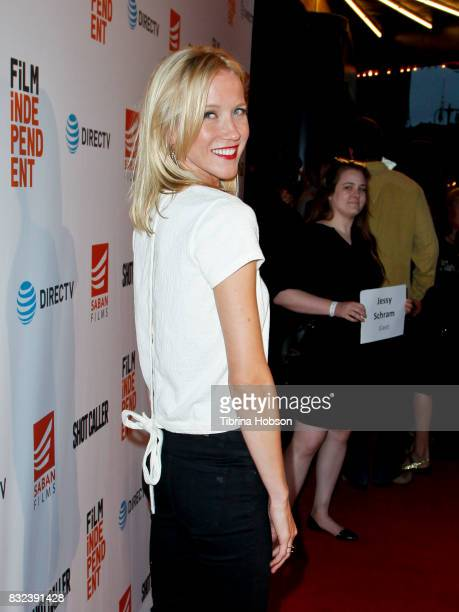 Jessy Schram attends the screening of 'Shot Caller' at The Theatre at Ace Hotel on August 15 2017 in Los Angeles California