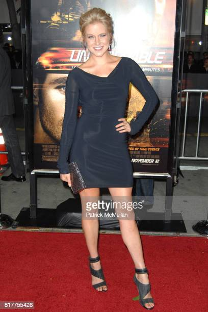 Jessy Schram attends UNSTOPPABLE World Premiere at Regency Village Theatre on October 26 2010 in Westwood California