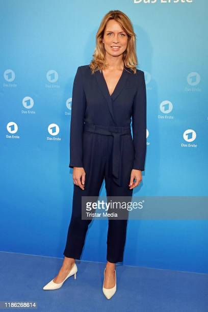 Jessy Wellmer attends the Das Erste Annual Press Briefing on December 3 2019 in Hamburg Germany