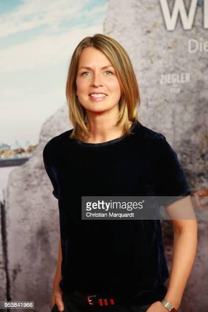 Jessy Wellmer attends the premiere of the 4th season of the German TV series 'Weissensee' on May 2 2018 in Berlin Germany