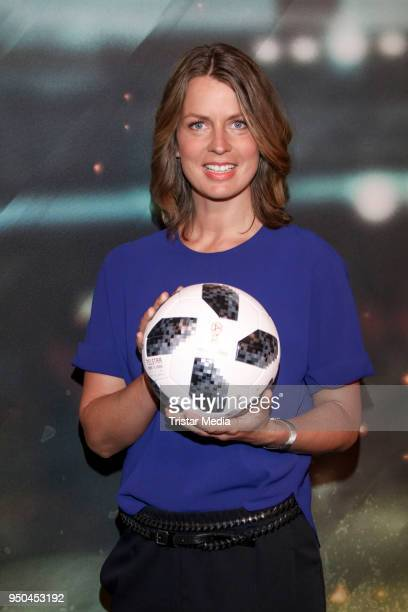 Jessy Wellmer during the TV programs ARD and ZDF present their team for the 2018 FIFA World Championship in Russia on April 23 2018 in Hamburg Germany