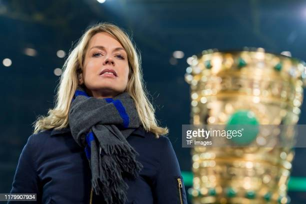 Jessy Wellmer looks on during the DFB Cup second round match between Borussia Dortmund and Borussia Moenchengladbach at Signal Iduna Park on October...