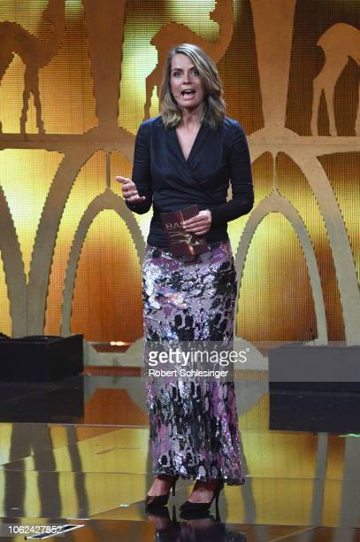 Jessy Wellmer on stage during the 70th Bambi Awards show at Stage Theater on November 16 2018 in Berlin Germany
