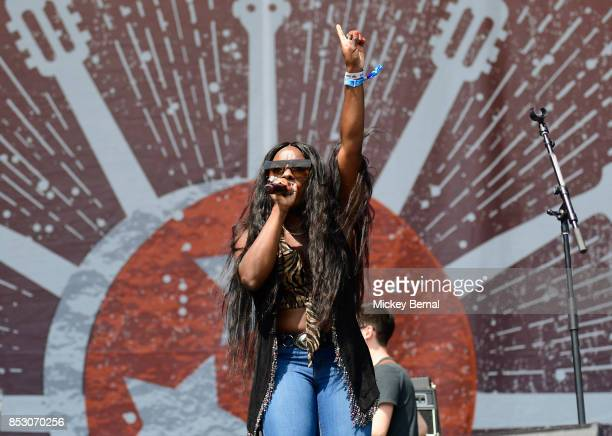 Jessy Wilson of the Muddy Magnolias performs during Pilgrimage Music Cultural Festival on September 24 2017 in Franklin Tennessee