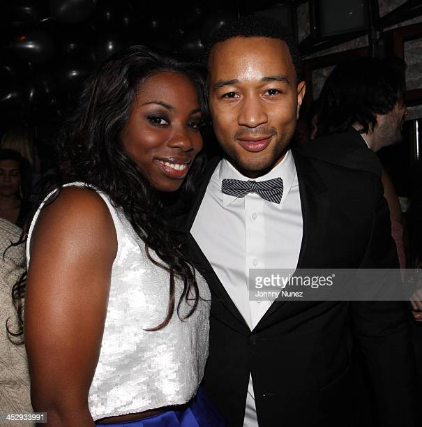 Jessyca Wilson and John Legend attend John Legend's birthday party at SL on December 28 2009 in New York City