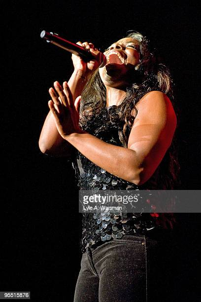 Jessyca Wilson performs with John Legend at The Venue at The Horseshoe Casino on December 30 2009 in Hammond Indiana