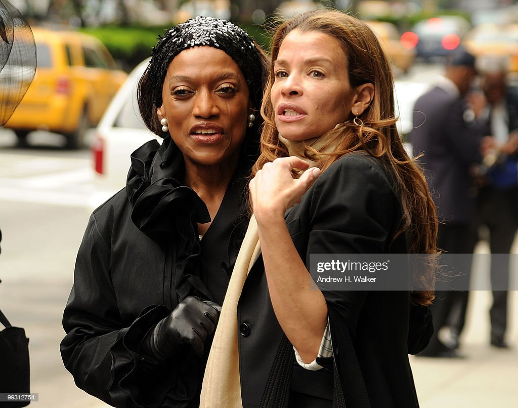 Jessye Norman and Jenny Lumet attend funeral services for entertainer Lena Horne at St. Ignatius Loyola Church on May 14, 2010 in New York City.