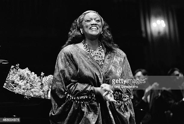 Jessye Norman soprano voice at the Concertgebouw on 18th December 1989 in Amsterdam the Netherlands
