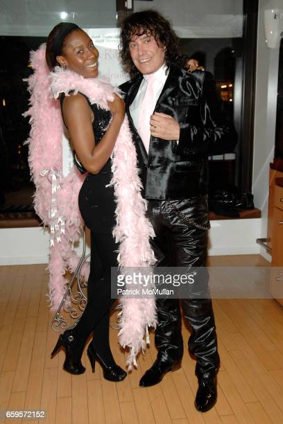 "Jessyka Dennis and Rodolfo Valentin attend Sofia's ""Hair for Health"" Annual Party at the Rodolfo Valentin Salon and Spa on October 11, 2009 in New..."
