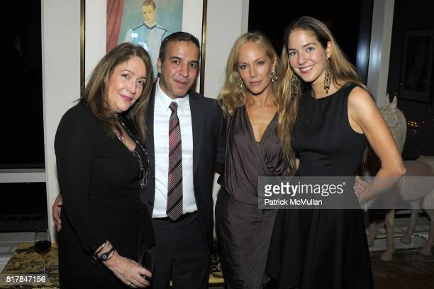Jesus Aguais Yaz Hernandez and Karina CorreaMaury attend Aid for AIDS Planning Party for the 2010 MY HERO GALA at Trump World Tower on October 27...