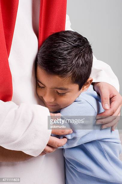 jesus and child - smiling jesus stock pictures, royalty-free photos & images