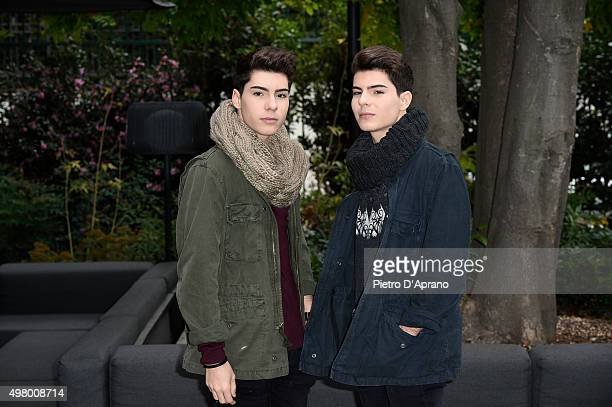 Jesus and Daniel Oviedo attend a photocall for the Italian release of their second album 'Mil y una noches' on November 20 2015 in Milan Italy