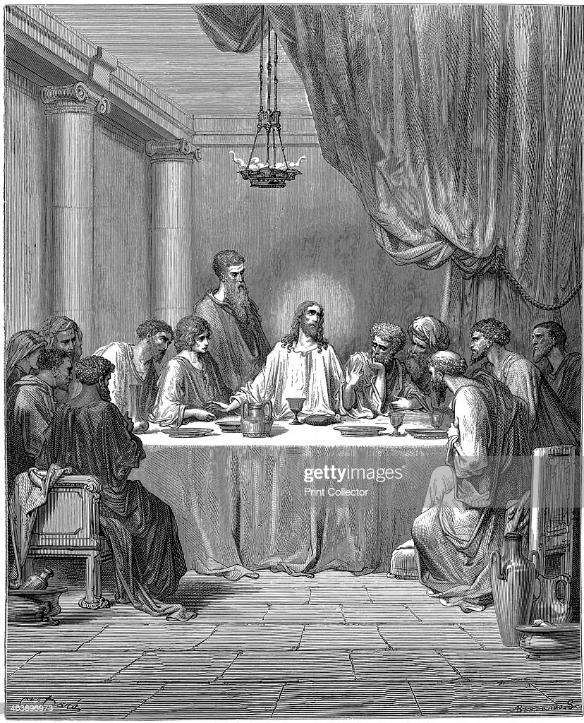 jesus and his disciples at the last supper 1866 artist gustave