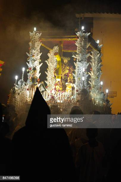 jesus and mary procession in ayacucho city - christ is risen stock photos and pictures