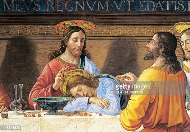 Jesus and St John detail from The Last Supper by Domenico Ghirlandaio fresco Refectory of the Convent of San Marco Florence