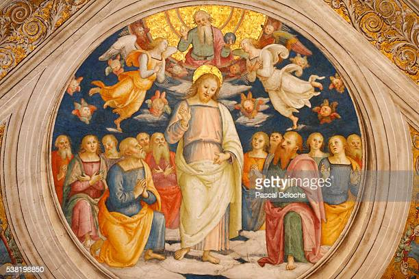jesus and the apostles. detail of the celling. room of the fire in the borgo. vatican museum. - 使徒 ストックフォトと画像