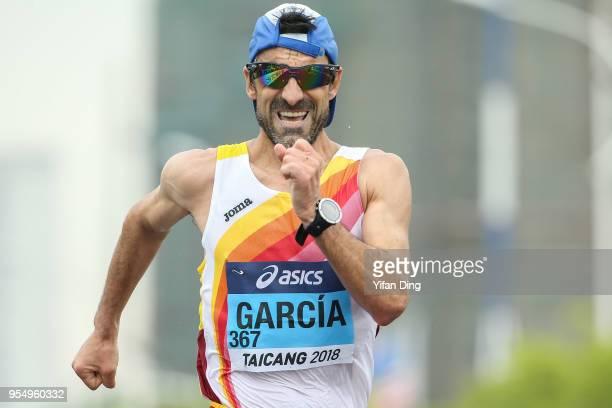 Jesus Angel Garcia of Spain in action during Men's 50 kilometres Race Walk of IAAF World Race Walking Team Championships Taicang 2018 on May 5 2018...