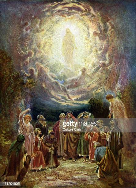 Jesus ascends to heaven 'And it came to pass while he blessed them he was parted from them and carried up into heaven' Luke xxiv 5051 Acts I 1011...