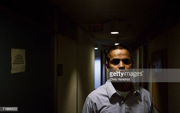 Jesus Bocanegra stands in the hallway of a Quaker pacifist center June 14 2006 in Philadelphia Pennsylvania Bocanegra has been diagnosed with...