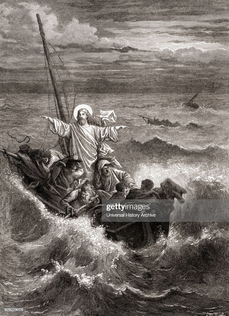 Jesus calming the storm on the sea of galilee pictures getty images jesus calming the storm on the sea of galilee from the gospels new testament publicscrutiny Choice Image