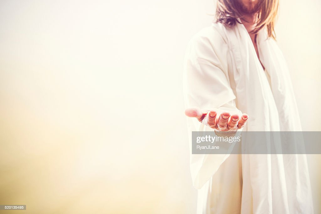 Jesus Christ Extending Welcoming Hand : Stock Photo