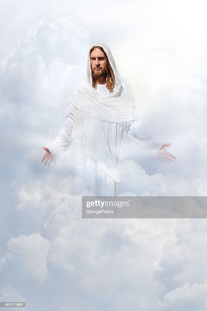 jesus christ in heaven stock photo | getty images